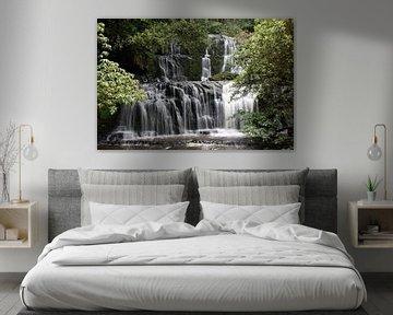 Purakaunui falls, Waterval in Nieuw Zeeland