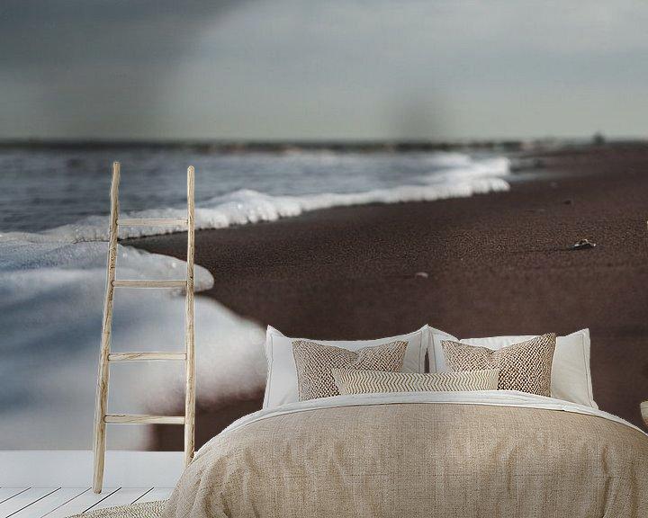 Beispiel fototapete: Wasserlinie am Strand. von Bastiaan Veenstra