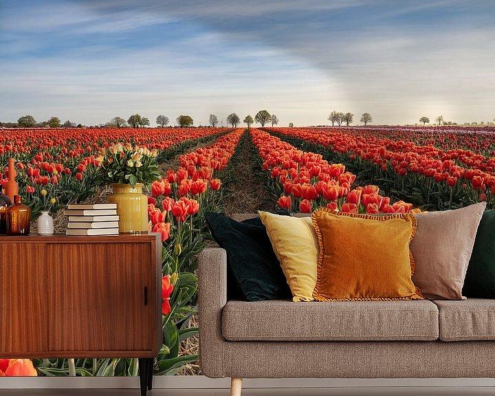 Impression: Champ de tulipes rouges sur Michael Valjak