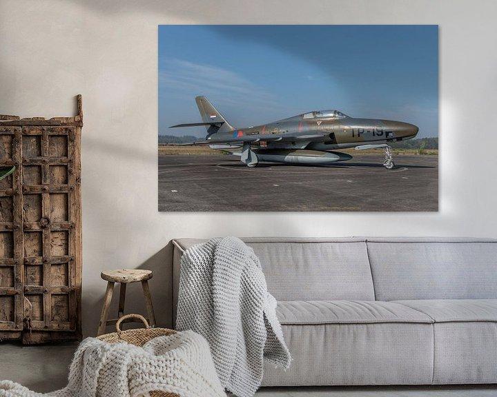 Sfeerimpressie: Nostalgie: Republic RF-84F Thunderflash fotoverkenningsvliegtuig van de Koninklijke Luchtmacht met r van Jaap van den Berg