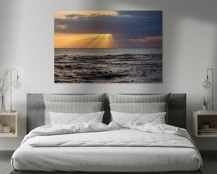 Impression: Coucher de soleil sur l'océan Atlantique en Jamaïque sur Eyesmile Photography