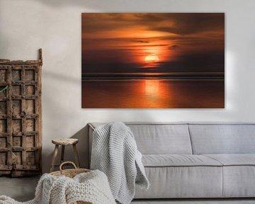Zonsondergang bij Roptazijl van Goffe Jensma