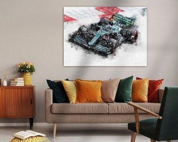 Sebastian Vettel 2021 von Theodor Decker