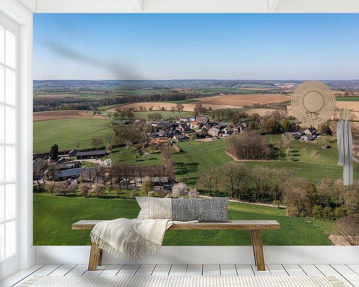 Beispiel fototapete: Luftaufnahme von Bosschenhuizen, einem Ortsteil von Simpelveld von John Kreukniet