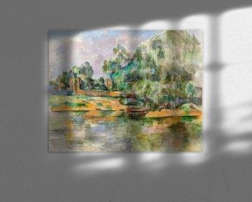 Rivierbed, Paul Cézanne (ca. 1895) van Atelier Liesjes