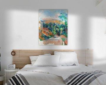 Cézanne, De bocht in de weg (ca. 1900–1906) van Atelier Liesjes