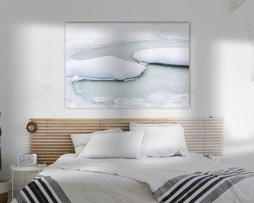 Paysage hivernal minimaliste