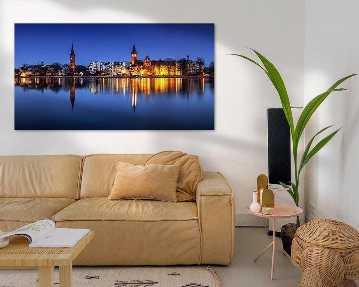 Impression: Berlin Köpenick - Panorama de la vieille ville à l'heure bleue sur Frank Herrmann