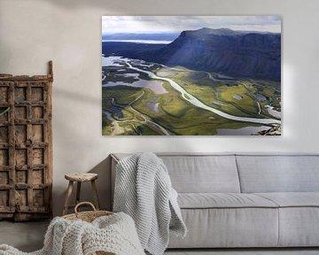 Rapadalen in Sarek Nationaal Park in Zweden van Karina Baumgart