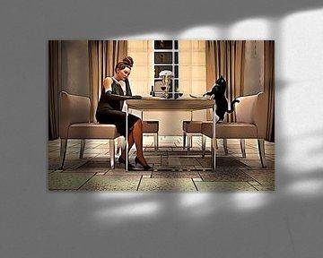 Tisch für zwei, eine Zeichentrickfigur von Arjen Roos