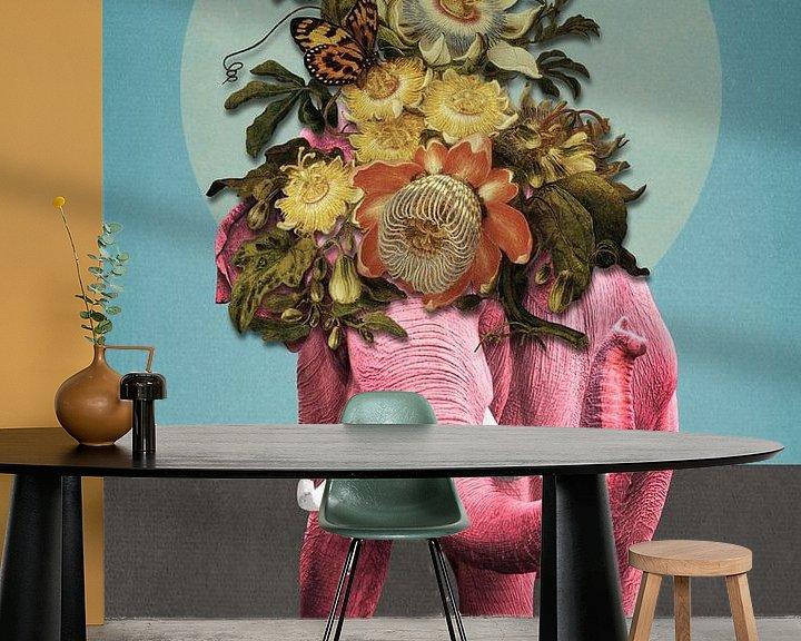 Beispiel fototapete: About Pink Elephants von Marja van den Hurk