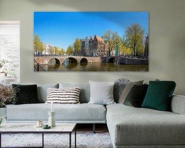 Panorama op de Keizersgracht van Foto Amsterdam / Peter Bartelings