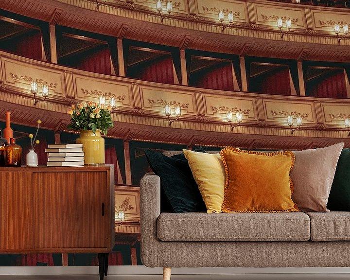 Beispiel fototapete: Das Innere der Wiener Staatsoper von Sophia Eerden