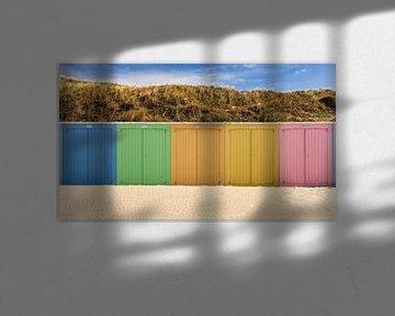 Kleurrijke Strandhuisjes van Bjorn Renskers