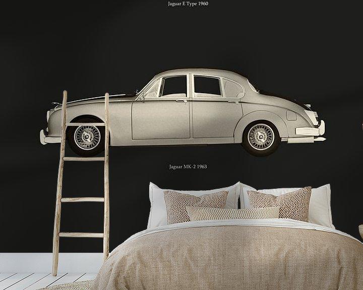 Beispiel fototapete: Ikonische Jaguar Autos von Jan Keteleer