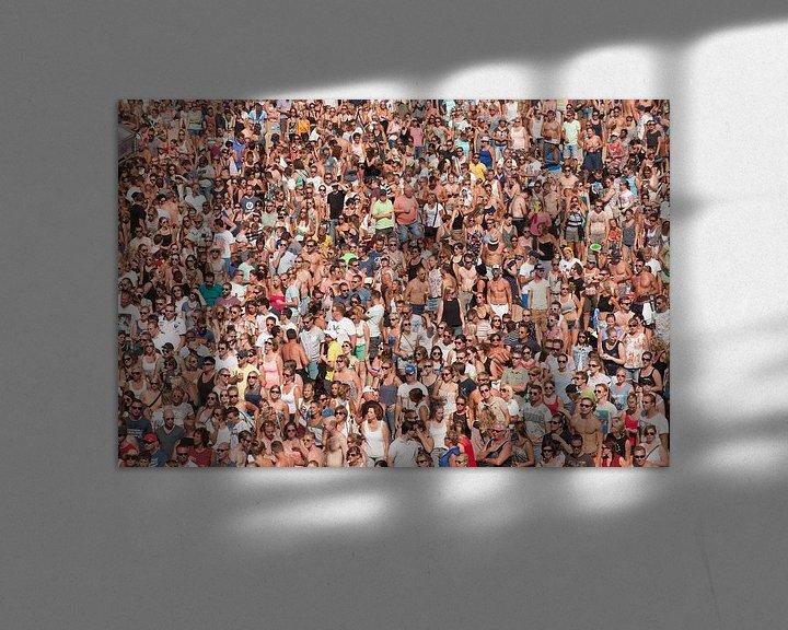 Sfeerimpressie: Mensenmassa op festival van Brian Morgan