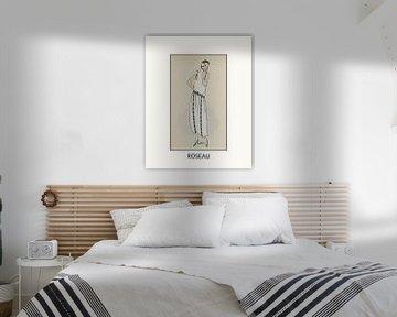 Roseau | Historischer Art Deco Fashion Print | Vintage Design im modernen Look von NOONY