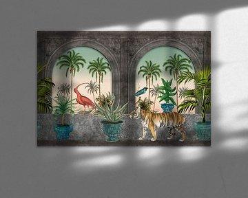 Tigre dans le palais du sultan