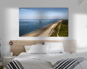 Overzichtsbeeld van het strand van Dishoek