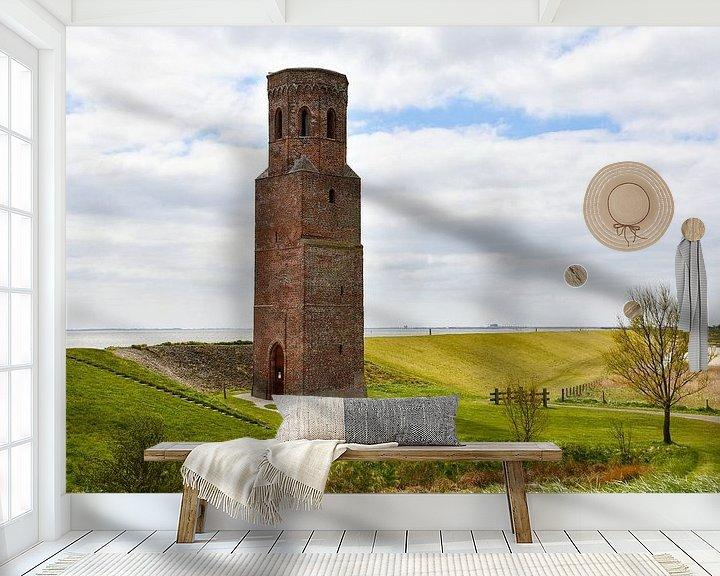 Sfeerimpressie behang: De Plompetoren langs de Oosterschelde van bart hartman