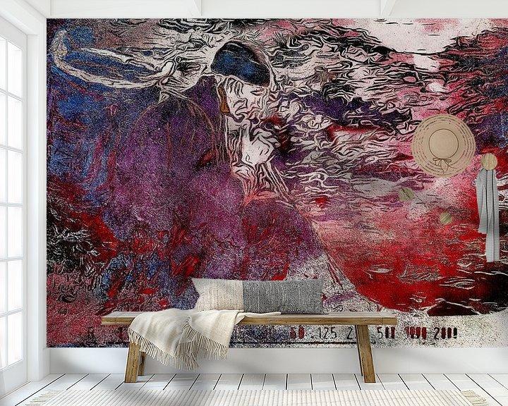 Sfeerimpressie behang: Nadenkende man van zam art