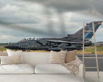 Tiger Tiger!! Prachtige Panavia Tornado van de Duitse Luchtmacht tijdens de spottersdag op de Duitse van Jaap van den Berg