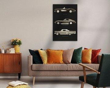 Chevrolet Corvette C1 Chevrolet Corvette Stingray en Chevrolet Impala