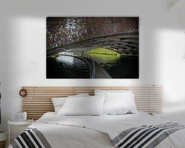 Dommel of Dieze in een tunnel in Den Bosch van Patrick Verhoef
