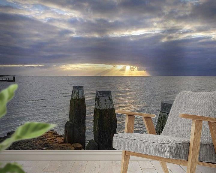 Sfeerimpressie behang: Zicht op het IJsselmeer van Dirk van Egmond