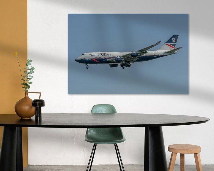 Sfeerimpressie: 100 jaar British Airways! Deze Boeing 747-400 (G-BNLY) is ter gelegenheid van dit jubileum gespoten  van Jaap van den Berg