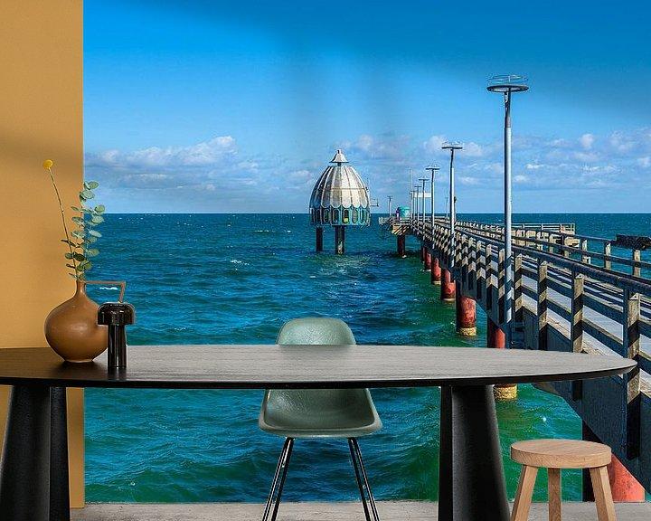 Beispiel fototapete: Seebrücke an der Ostseeküste in Zingst auf dem Fischland-Darß von Rico Ködder