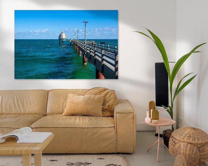 Beispiel: Seebrücke an der Ostseeküste in Zingst auf dem Fischland-Darß von Rico Ködder