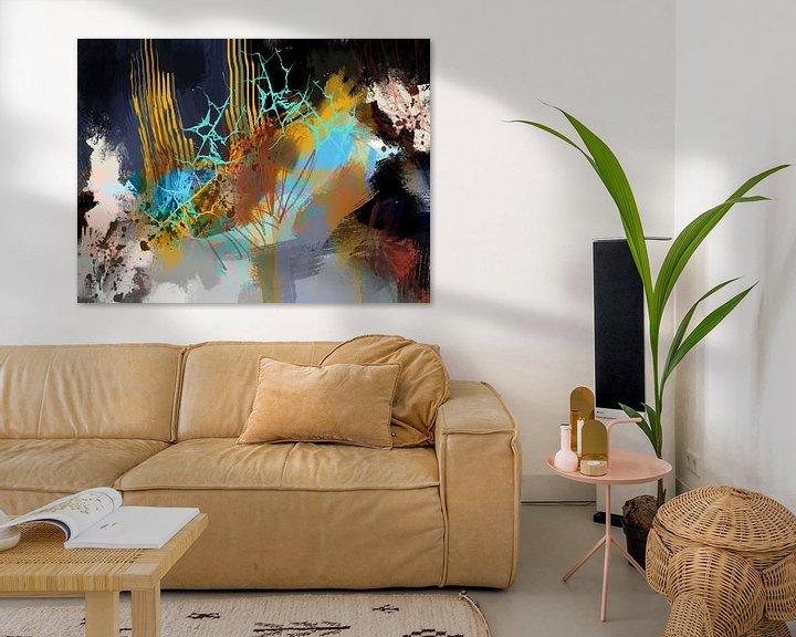 Sfeerimpressie: Abstract, Pluk boeket. van SydWyn Art