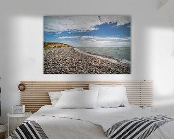 De kiezel strand op Langeland van Tina Linssen