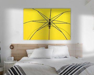Gelb mit Linien abstrakt