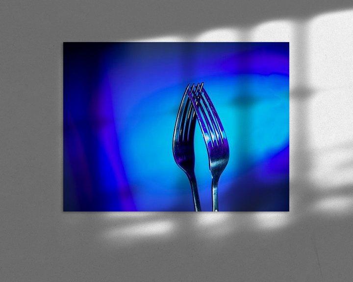 Sfeerimpressie: Twee vorken zo blauw van Jan Enthoven Fotografie