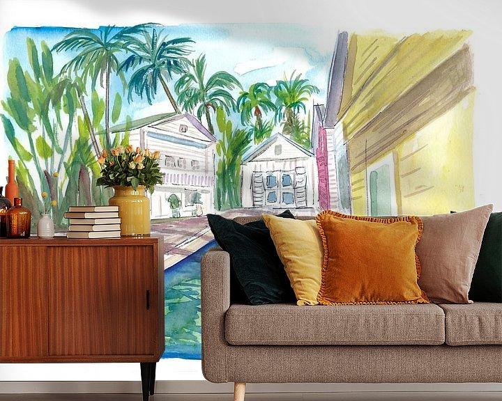 Beispiel fototapete: Yellow Conch Dreams in Key West mit coolem Pool von Markus Bleichner