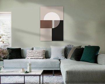 Cirkels - Chocolade 2 van Studio Malabar