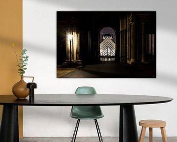 Blick auf den Louvre in Paris von Damien Franscoise