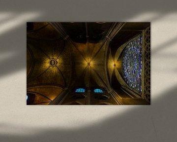 Het plafond van de Notre-Dame