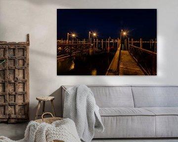 De havens van Venetië in de avond