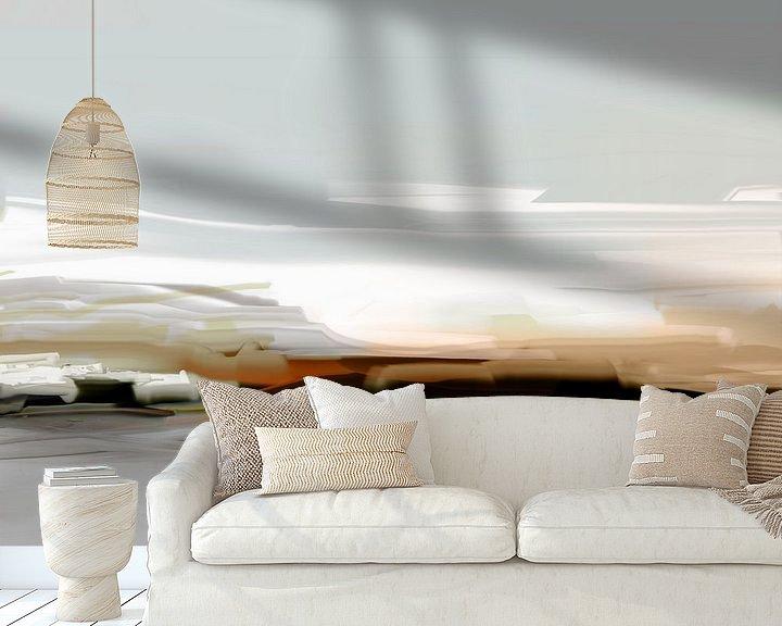 Sfeerimpressie behang: Abstractie,  IJsland. van SydWyn Art