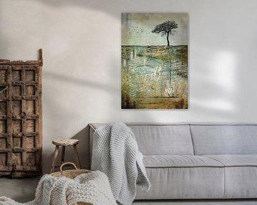 Life is art - Blätter im herbstlichen Wind von Annette Hanl