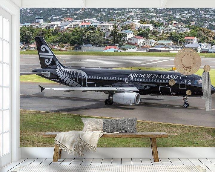 Sfeerimpressie behang: Vliegtuigen spotten aan de andere kant van de wereld. van Jaap van den Berg