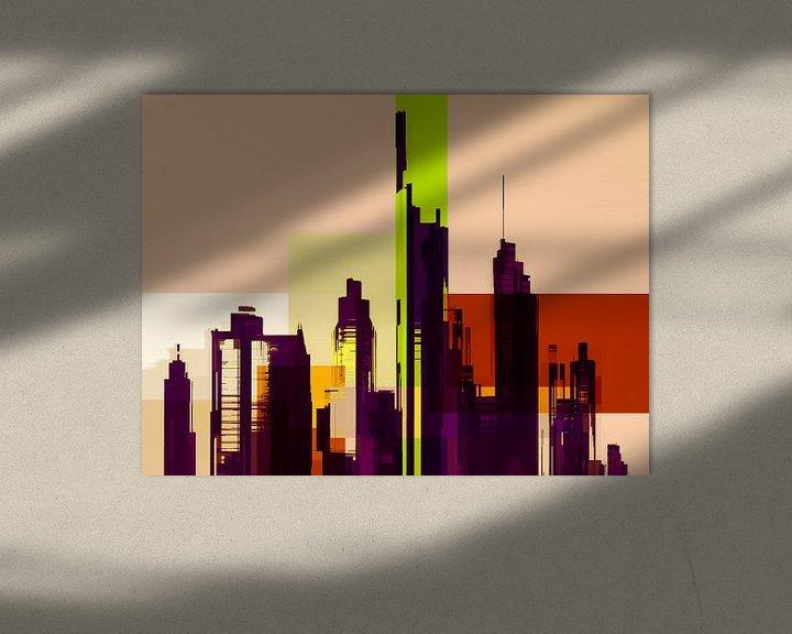 Sfeerimpressie: Modern, Stedelijk landschap, Capital City. van SydWyn Art
