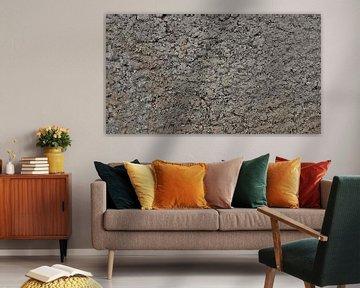 Die Schlammwand - Erdtextur - Ländlich - Abstrakt - Figürlich - Gemälde von Schildersatelier van der Ven