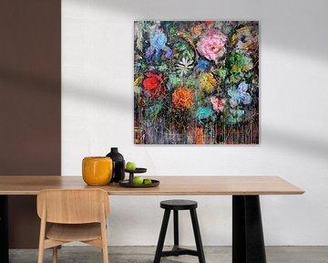 Fleurs fraîches sur Atelier Paint-Ing