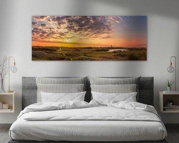 vuurtoren zonsondergang grote panorama