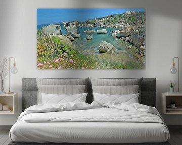 Sardinien - Le Piscini di Porto Cuncatu - Natürlich figurativ - Costa Smeralda - Malerei von Schildersatelier van der Ven