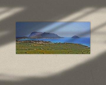 Sardinien - Golfo Aranci und Capo Figare - Panorama - Italien - Gemälde von Schildersatelier van der Ven